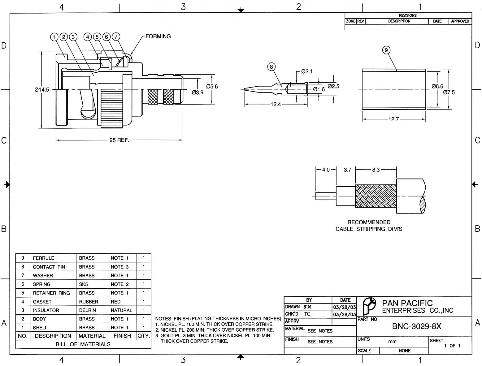 Bnc Straight Male Plug Dual Crimp Connector For Rg 8x 3029 Wiring Diagram Product Description